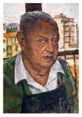 Autoritatto (II) 1972 - olio su cartone 35x50 (a)