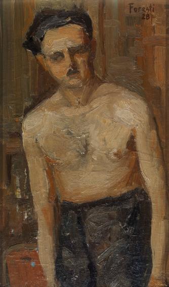 Autoritratto 1928 - olio su cartone 15x25 (a)