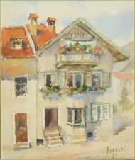 Casa Aigner a Colle Isarco 1951 - acquerello 24x28 (b)