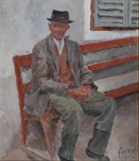 Luis a Colle Isarco 1951 - olio su cartone 40 X 48 (c)