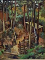 Nel bosco 1950 - olio su cartone 29x38 (b)
