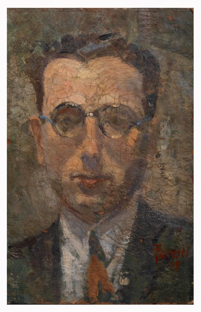 Ritratto del 1919- olio su cartone 15x24 (a)