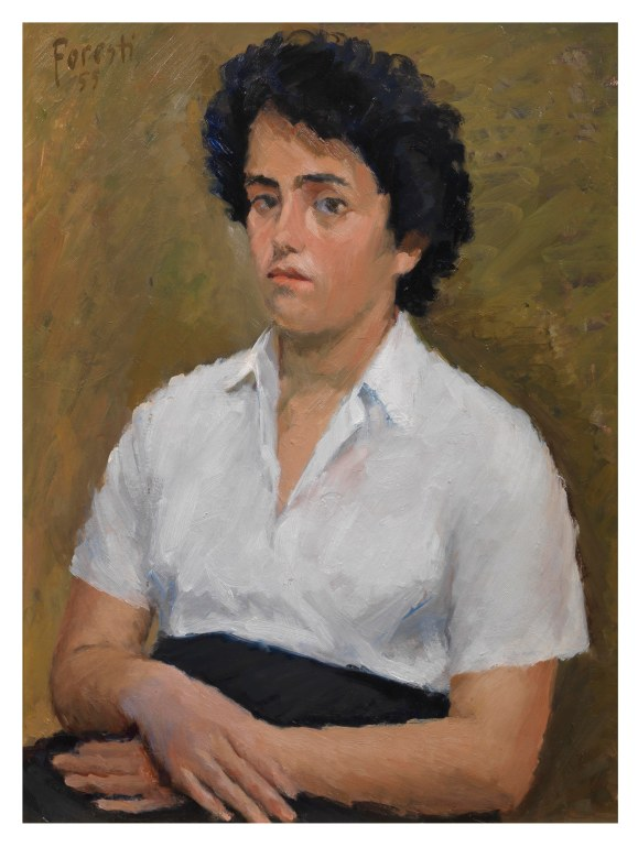 Ritratto di Ida 1955 - olio su cartone 58x74 (a)