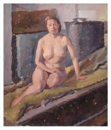 Scuola di nudo 1952 – olio su cartone 42x50 (a)